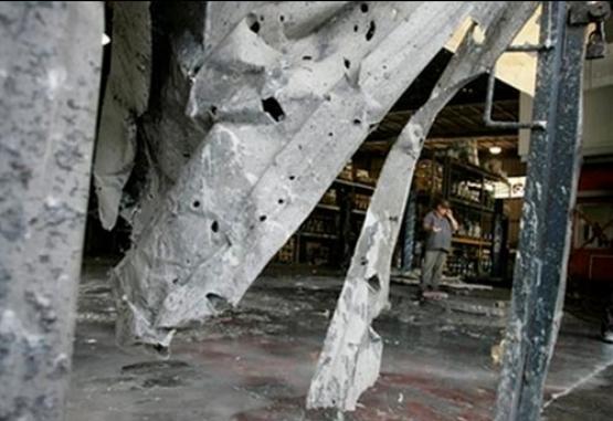 قصف مصنع في كيبوتس 'نير عوز'