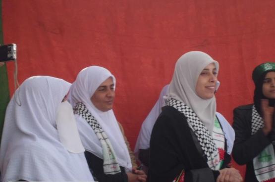 استقبال القسامية المحررة أحلام التميمي بالجزائر