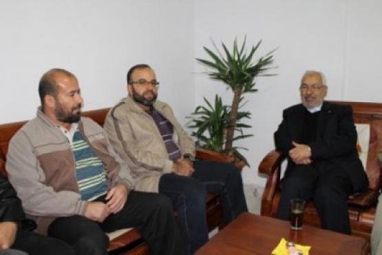 أسرى محررين في ضيافة الغنوشي بتونس