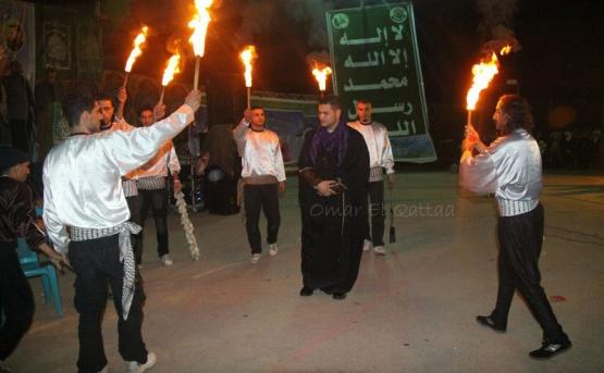 حفل زفاف الأسير القسامي المحرر مصعب الهشلمون بغزة