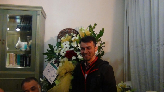 القسامي المحرر سلامه مرعي خلال الاحتفال