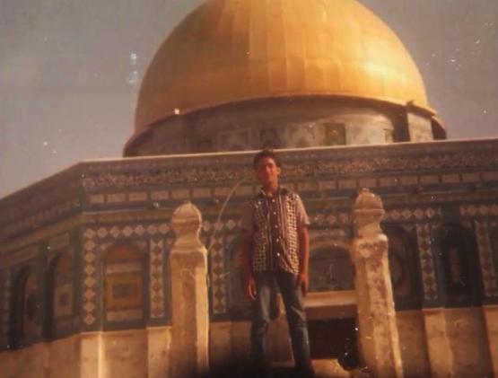 الشهيد إسلام في ساحة المسجد الأقصى