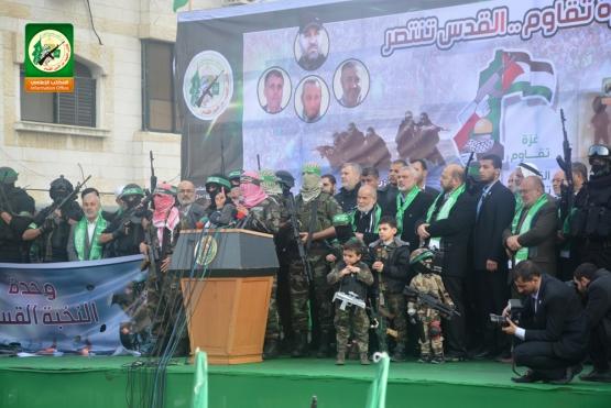 أبو عبيدة يلقي كلمة القسام في ذكرى انطلاقة حماس ال27