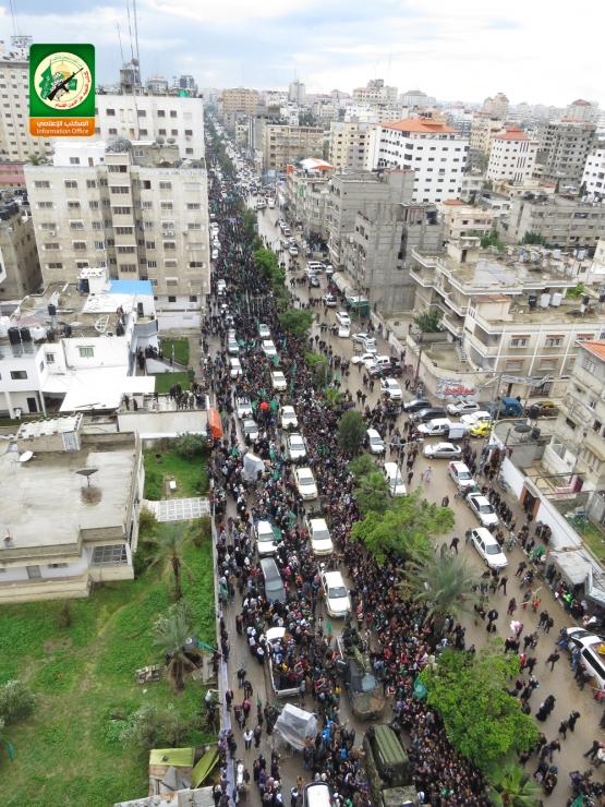 العرض العسكري لكتائب القسام في الذكرى 27 للانطلاقة