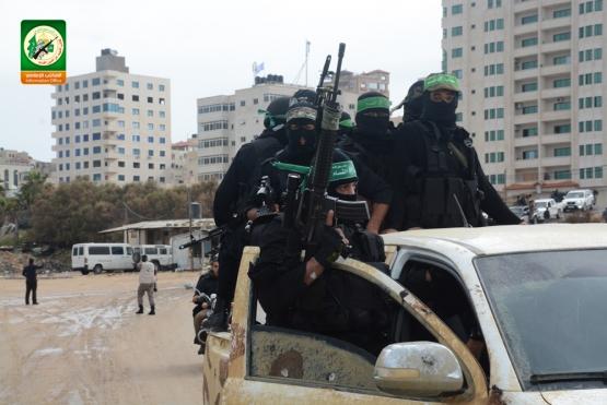 مجاهدو القسام خلال العرض العسكري