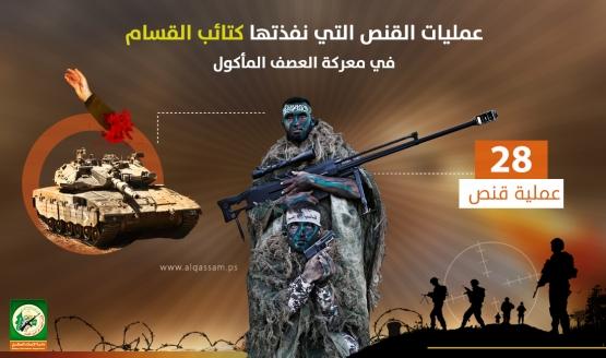 عمليات القنص التي نفذتها كتائب القسام خلال معركة العصف المأكول