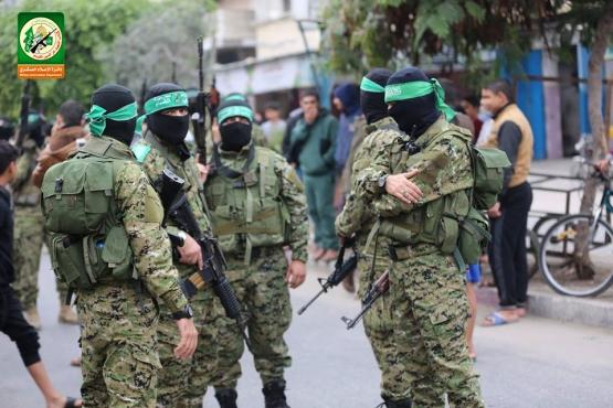 عرض عسكري في الذكرى الـ30 لانطلاقة حماس