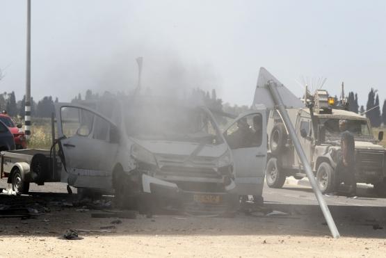 استهداف مركبة عسكرية شمال القطاع
