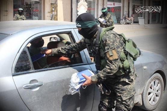 توزيع الكمامات على المواطنين - رفح