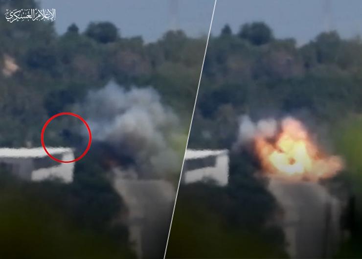 تدمّير جيب عسكري بصاروخ كورنيت